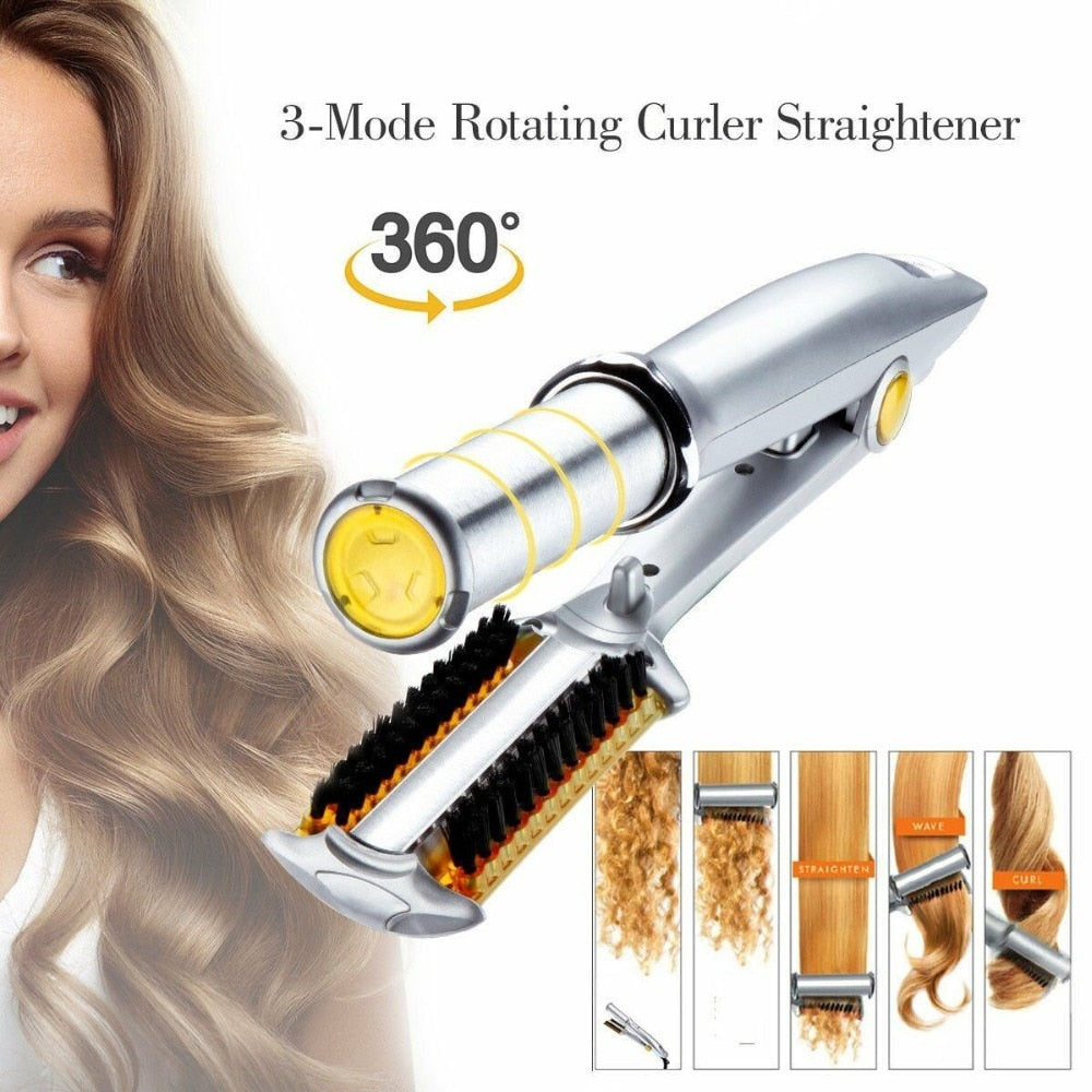 Load image into Gallery viewer, Professional  Two Way Rotating Hair Iron