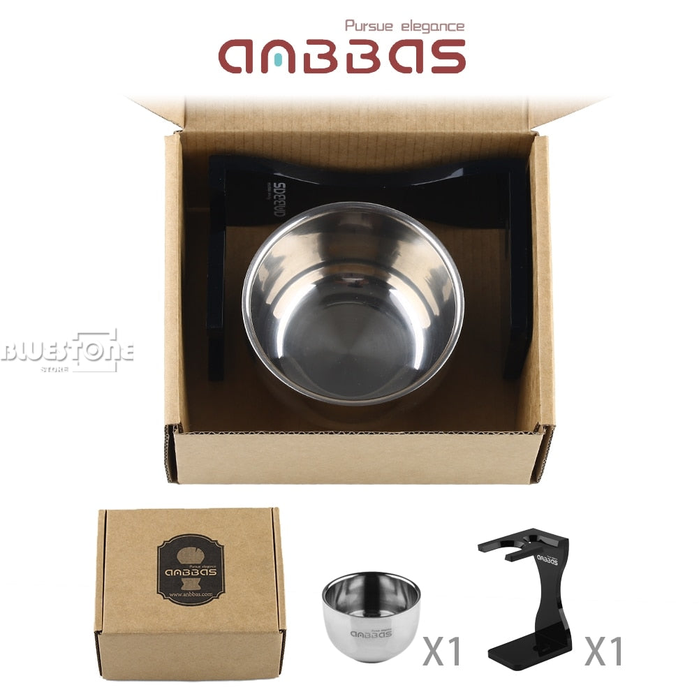 Load image into Gallery viewer, Unique Design Acrylic Shaving Stand & Stainless Steel Shave Brush Bowl by Anbbas