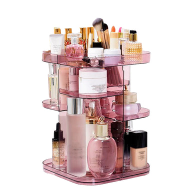 Clear Rotating Cosmetics Organizer