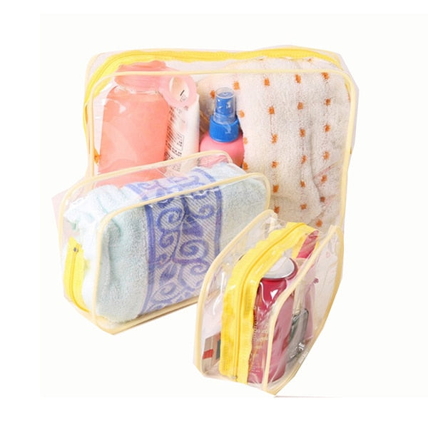 Transparent  Zipper Makeup Organizer