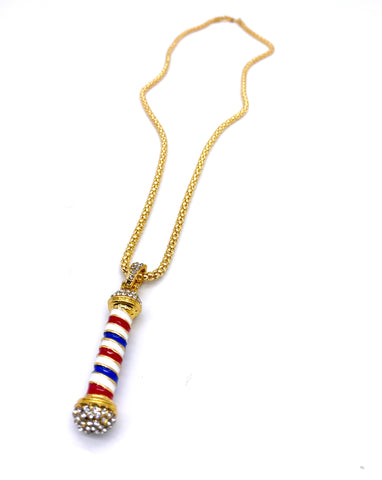 Barber Pole Necklace (Gold)