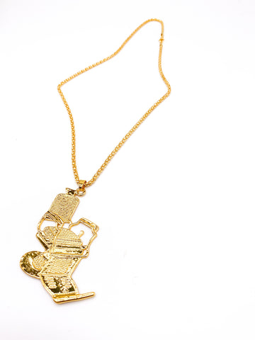 Barber Chair Necklace (Gold)