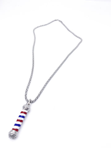 Barber Pole Necklace (Silver)