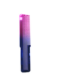 Professional Large Clipper Styling Flat Top Comb (Rainbow)