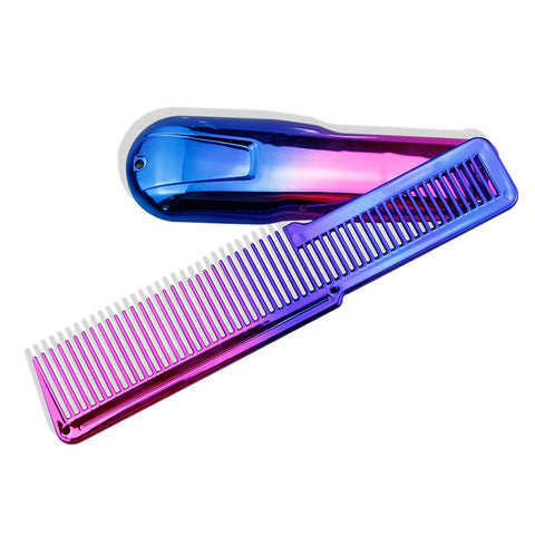 Professional Large Clipper Styling Flat Top Comb and Rainbow Clipper Cover