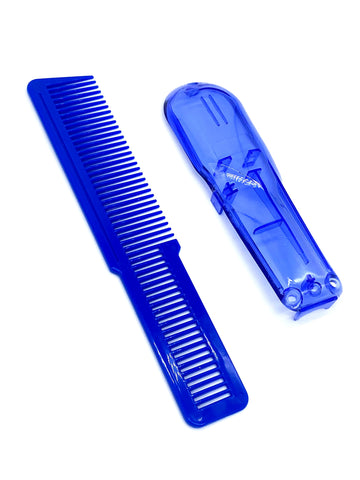 Transparent Blue Wahl Clipper Cover and Comb Combo