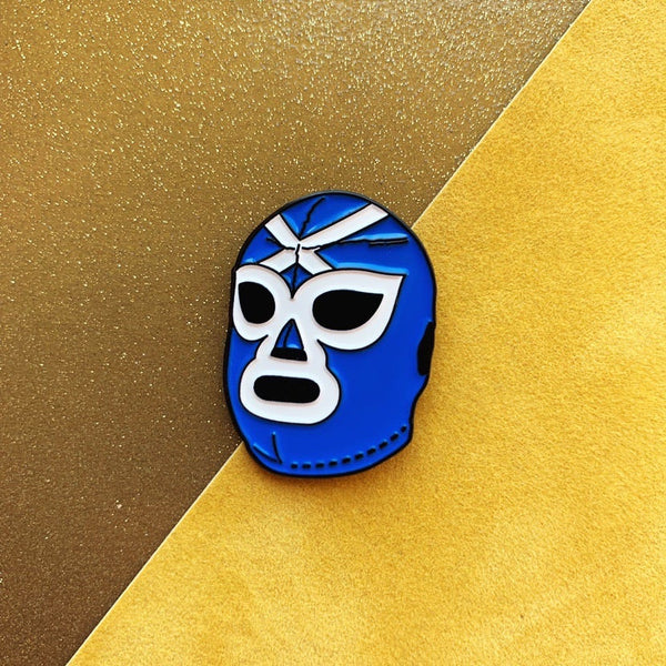 Scottish Luchador Mask Enamel Pin