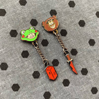 Brick Frog & Scare Bear Earrings