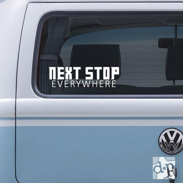 Next Stop Everywhere Dr Who Vinyl Decal