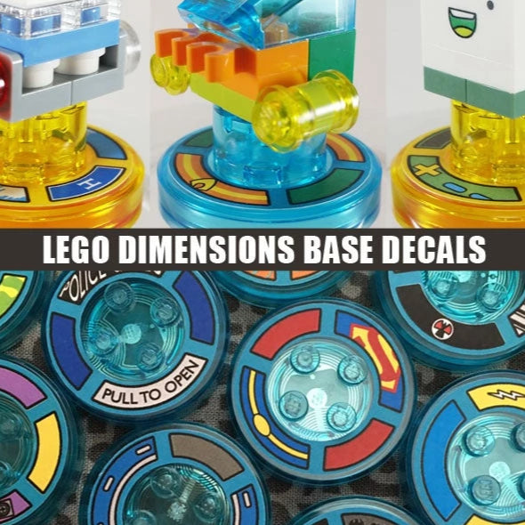 LEGO Dimensions RFID Base Decals Labels