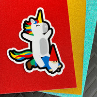 Unicorn & Gnome Vinyl Stickers