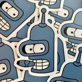 Time Robot Clear Stickers