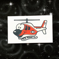 TH-57 Helicopter Temporary Tattoos - SET OF 3