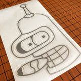 Time Robot Vinyl Decal