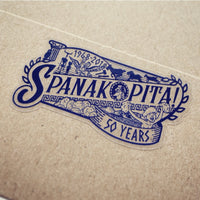 SPANAKOPITA! Clear Vinyl Stickers