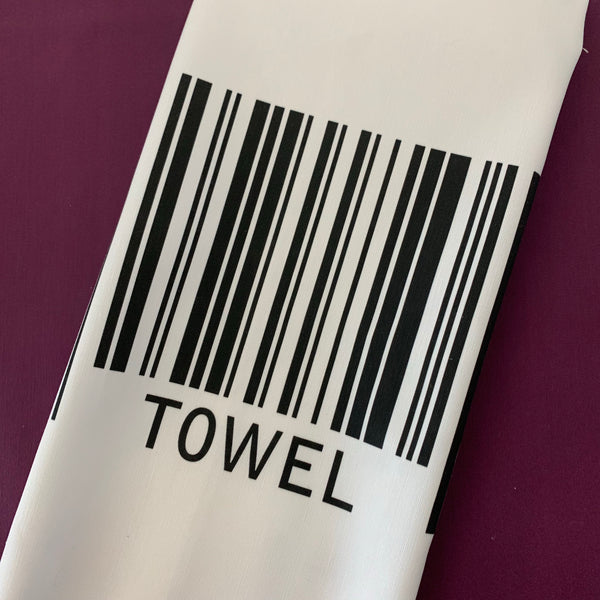 Bar Code Tea Towel
