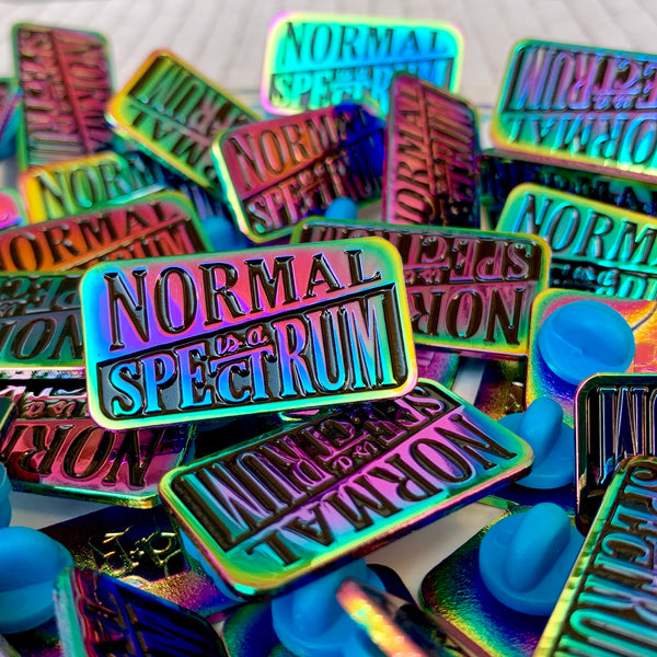 Normal is a Spectrum Enamel Pin