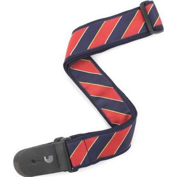 Planet Waves Polyester Woven Strap - Blue/Red Tie Stripes