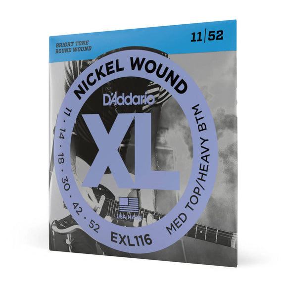 D'Addario EXL116 11-52 Electric Guitar Strings