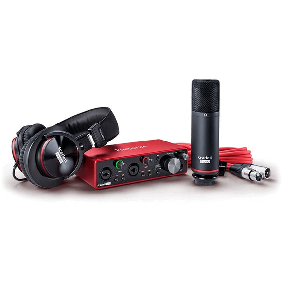 Focusrite Scarlett 2i2 Studio 3rd Gen Audio Interface Bundle w/ Headphones and Microphone