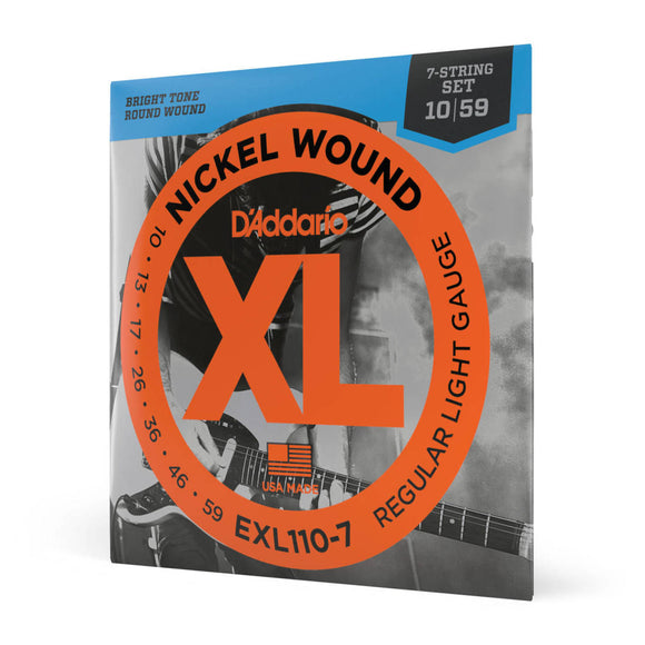 D'Addario EXL110-7 7-String Electric Guitar Strings