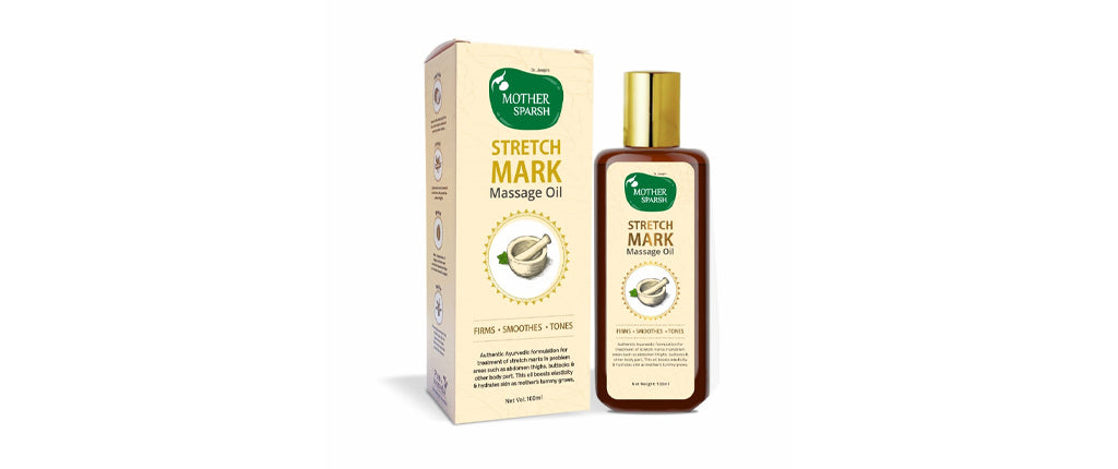 How to get rid of stretch marks with natural stretch mark oil by Mother Sparsh
