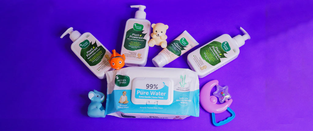 baby care products by Mother Sparsh
