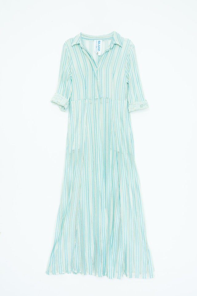 Net Shirt Dress