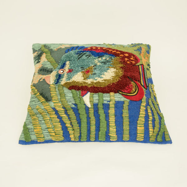 Kelim fish cushion