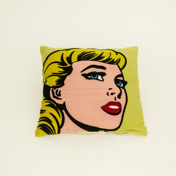 Yellow face cushion