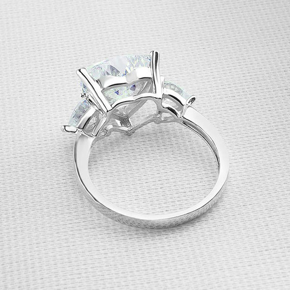 Heart Cut Three Stone Solitaire Classic Ring - jewel-inside