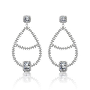 Fashion Simple Princess Cut Earrings - jewel-inside