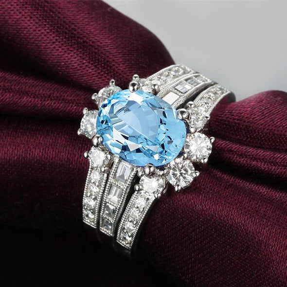 2ct Skyblue Topaz  925 Sterling Silver Ring - jewel-inside