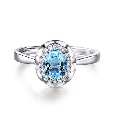 1ct Natural Bluesky Topaz 925 Sterling Silver Ring - jewel-inside