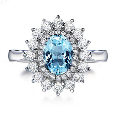 1.25ct  Sunflower Topaz 925 Sterling Silver Ring - jewel-inside