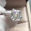 Emerald Cut Tapered Three Stone Ring - jewel-inside