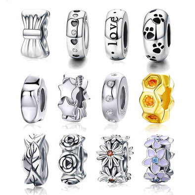 925 Sterling Silver Spacer Charm Collection - jolics