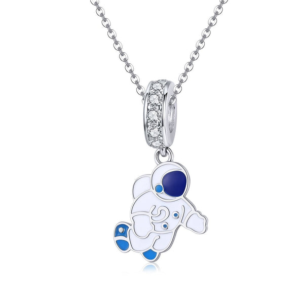 Astronaut 925 Sterling Silver Dangle Charm - jolics