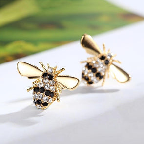Bee Round Cut Earrings - jolics