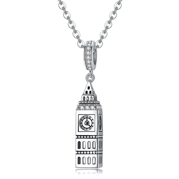 Big Ben 925 Sterling Silver Dangle Charm - jolics