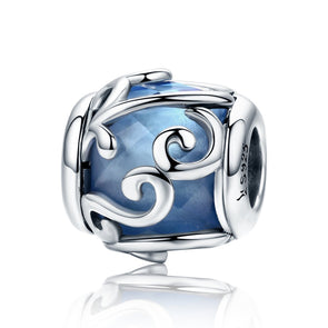 Blue Wave 925 Sterling Silver Bead Charm - jolics