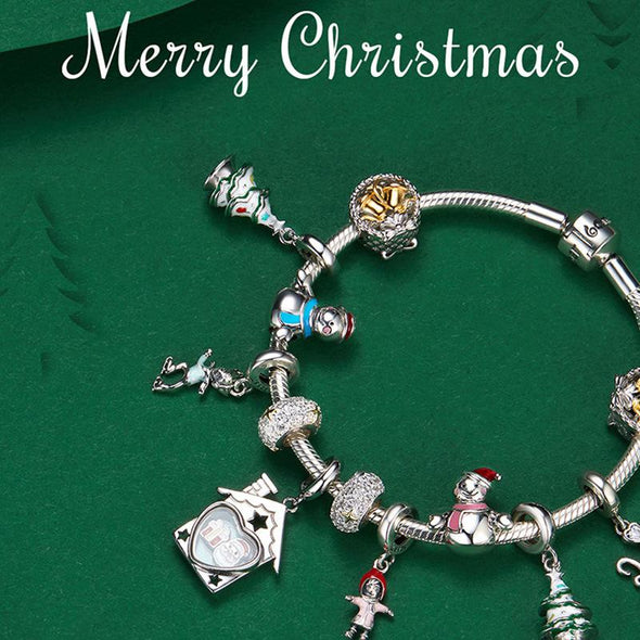 Christmas Bell 925 Sterling Silver Bead Charm - jolics