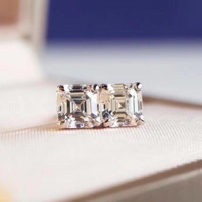 Classic Asscher Cut Earrings - jolics