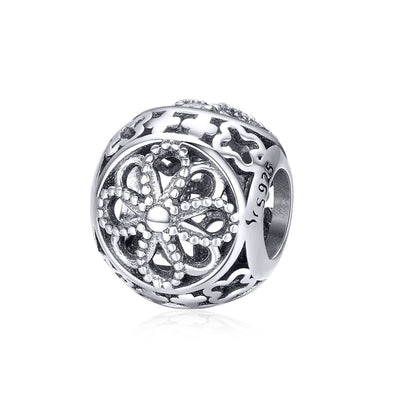Classic Bouquet 925 Sterling Silver Bead Charm - jolics