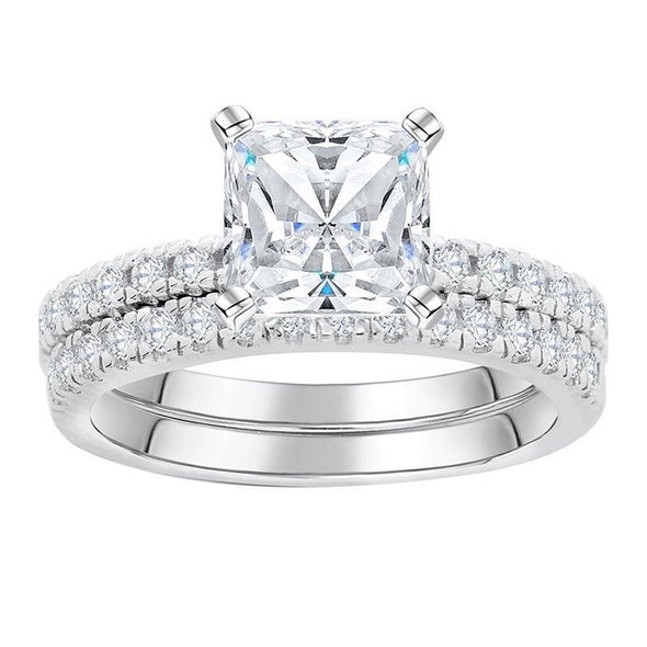 Classic Princess Cut Wedding Set - jolics
