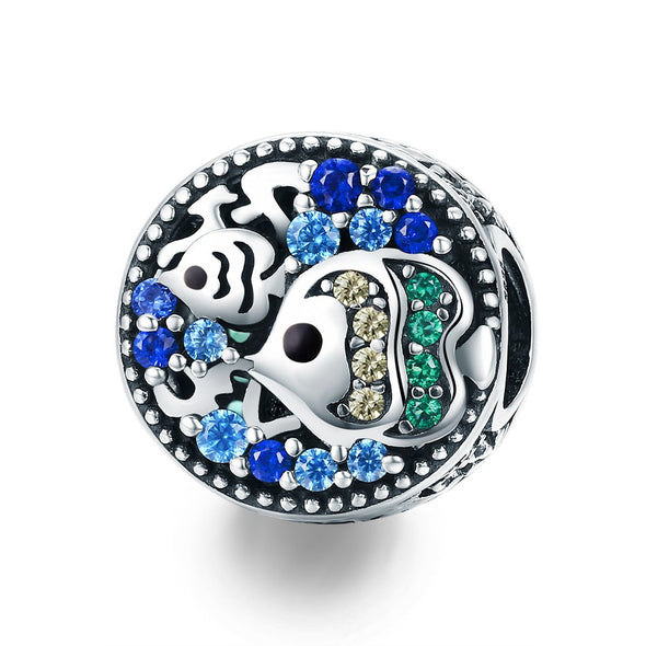 Colorful Sea World 925 Sterling Silver Bead Charm - jolics