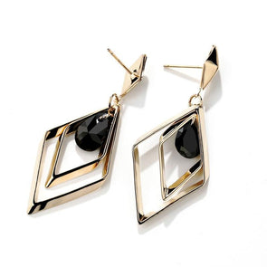 Diamond Shape Fashion Earrings - jolics