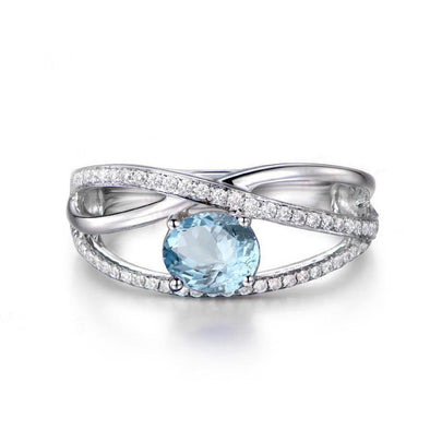 Elegant Topaz Ring with Accents - jolics