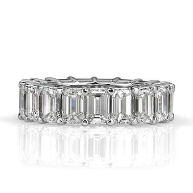 Emerald Cut Sterling Silver Women's Wedding Band - jolics