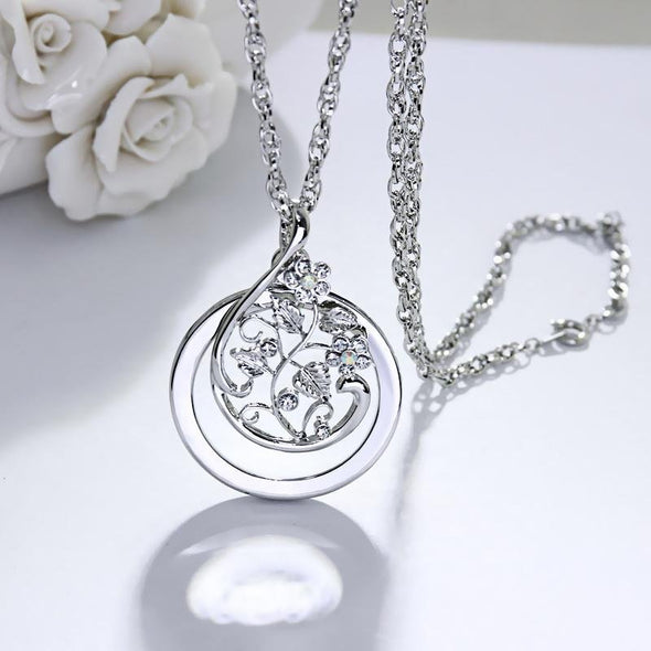 Fashion Flower Round Necklace - jolics